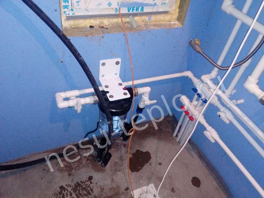 Монтаж фильтра для магистрального водопровода