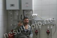 Котельная с газовым котлом Protherm и электрическим котлом Vaillant