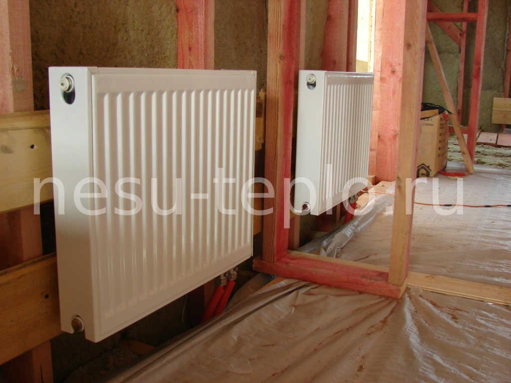 Установка радиаторов с нижним подключением