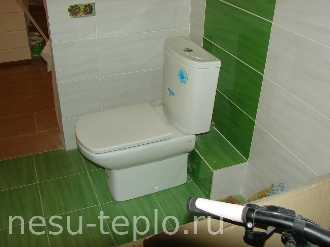Скрытый подвод воды и канализации в туалете