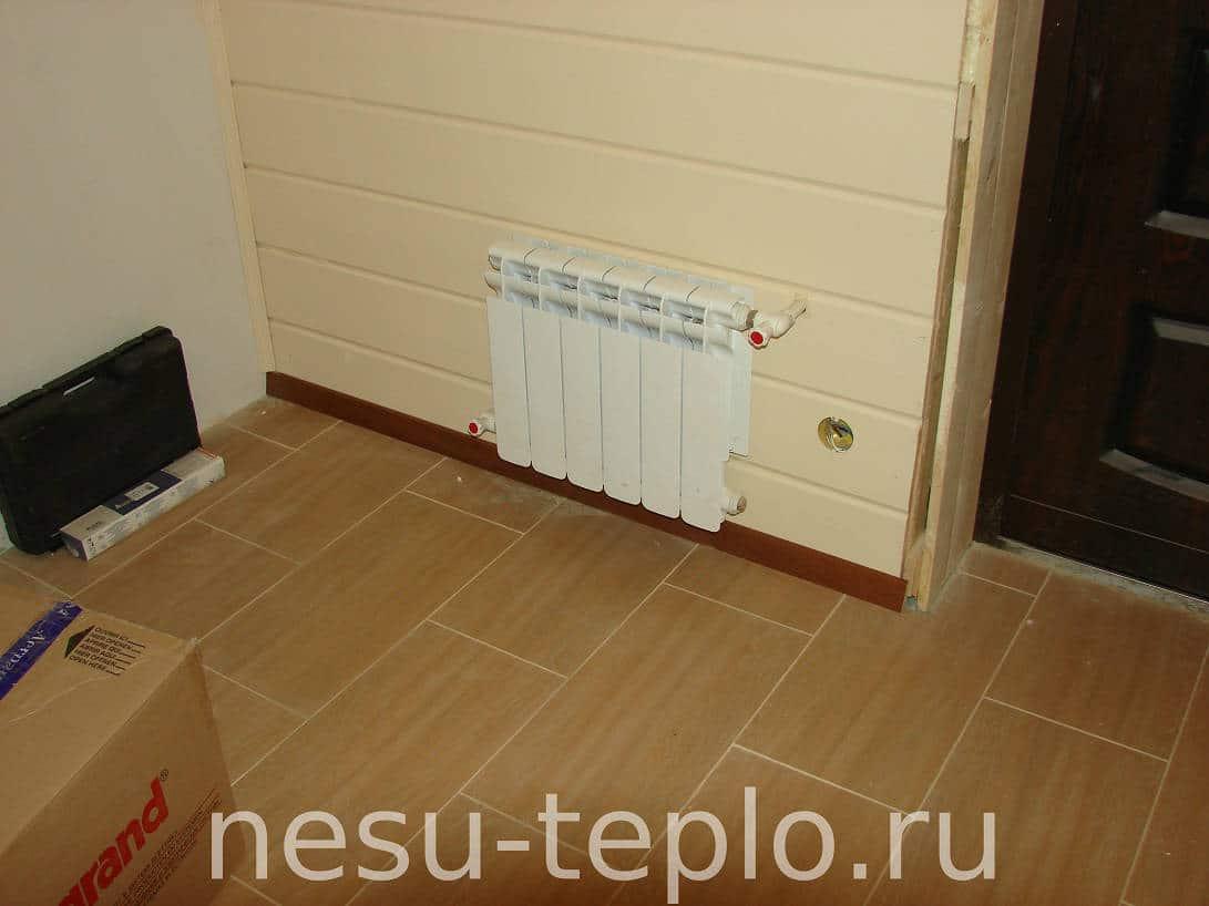 Пример скрытой разводки радиаторного отопления на сайте nesu-teplo.ru