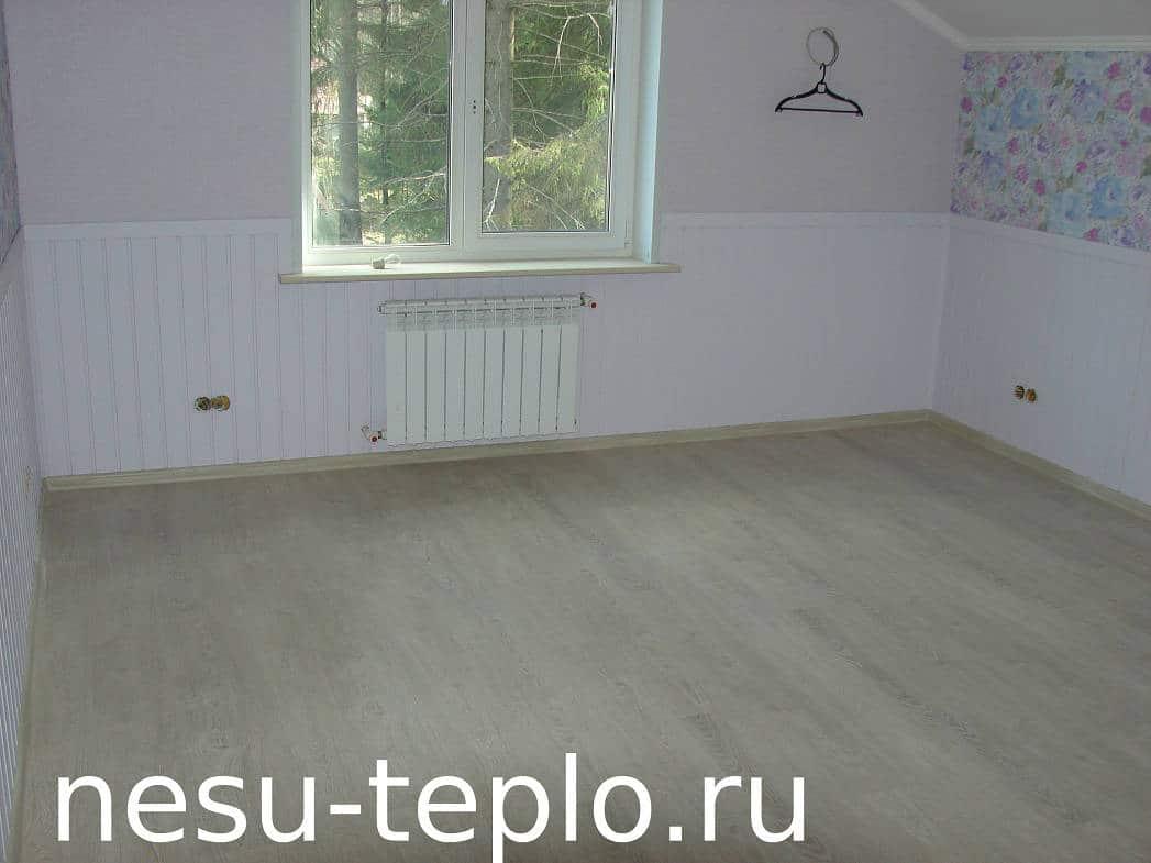 Пример скрытой разводки радиаторного отопления - 2 на сайте nesu-teplo.ru