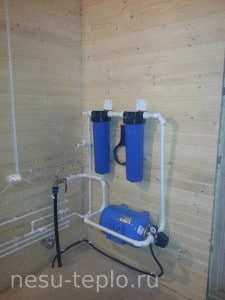 Ввод воды в дом и система фильтрации на сайте nesu-teplo.ru