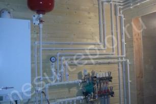 Двухконтурный газовый котел для отопления загородного дома.