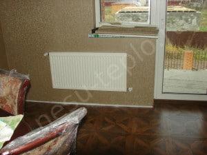 Пример скрытой разводки радиаторного отопления