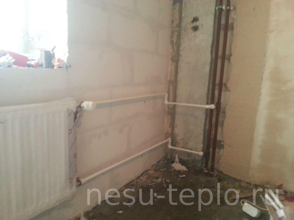 Подключение радиатора к стояку отопления на сайте nesu-teplo.ru
