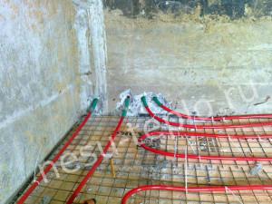 Водяные теплые полы в бетонном доме