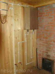 Подвод горячей и холодной воды в бане на сайте nesu-teplo.ru