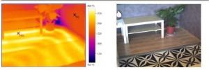 Пример снимка, сделанного тепловизором